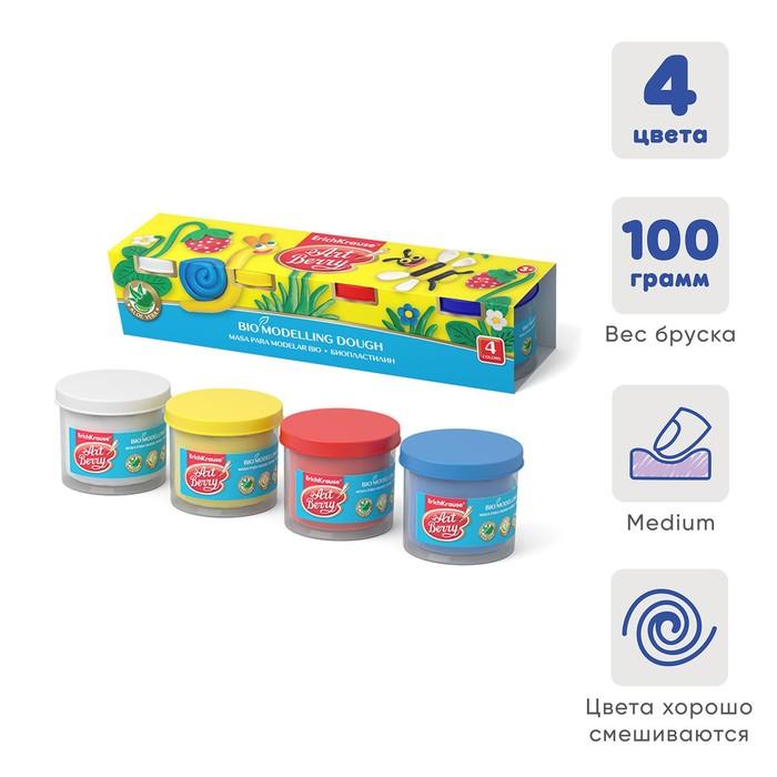 Пластилин на растительной основе набор 4 цвета по 100 г, ArtBerry с Алоэ Вера