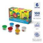 Пластилин на растительной основе набор 6 цветов по 100 г, ArtBerry с Алоэ Вера - фото 977002