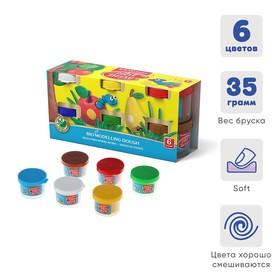 Пластилин на растительной основе набор 6 цветов по 35 г, ArtBerry с Алоэ Вера