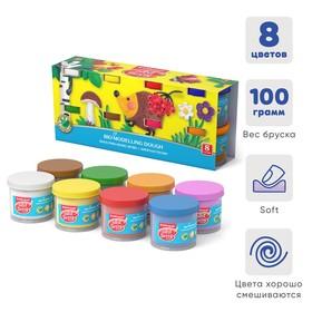 Пластилин на растительной основе набор 8 цветов по 100 г, ArtBerry с Алоэ Вера