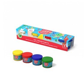 Краски пальчиковые набор 4 цвета*35 мл ArtBerry с Алоэ Вера 41751