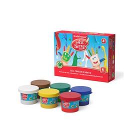 Краски пальчиковые, набор 6 цветов х 35 мл, ArtBerry, с Алоэ Вера