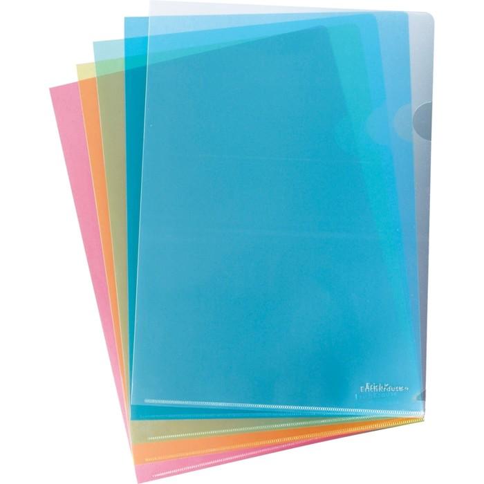 Папка-уголок А4 Erich Krause Clear Standard L-File, вместимость 80 листов, микс
