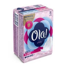 Прокладки Ola! Super, шелковистая поверхность, 8 шт.
