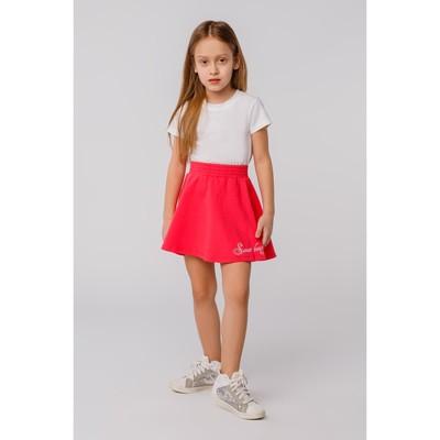 Юбка для девочки, рост 98 см, цвет коралловый Л623