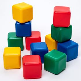 A set of colored cubes, 12 pieces of 12 × 12 cm