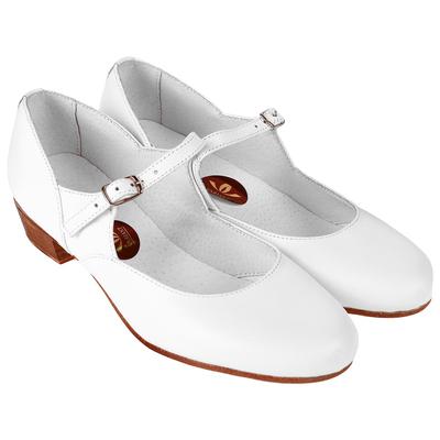 Туфли народные женские, длина по стельке 23,5 см, цвет белый