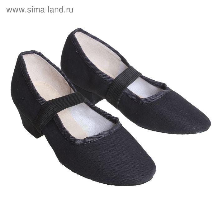 Туфли тренировочные, тканевые, модель №1, длина по стельке 23см, цвет чёрный