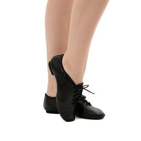 Джазовки низкие, кожаные, длина по стельке 19,5 см, цвет чёрный