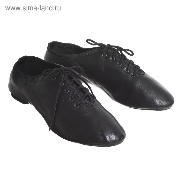 Джазовки низкие, кожаные, длина по стельке 23,5 см, цвет чёрный