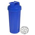 Шейкер спортивный с шариком, 600 мл, синий