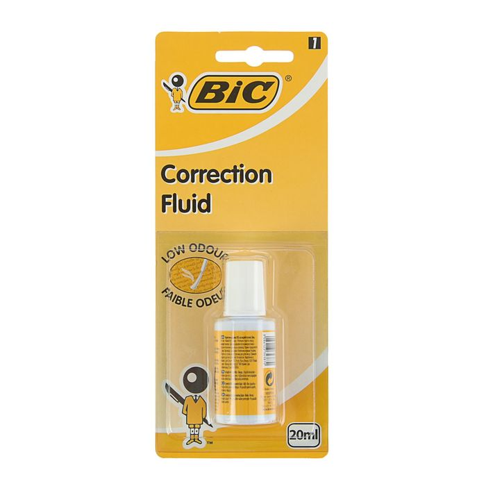 Корректирующая жидкость 20мл, водная основа, блистер, BIC Correction Fluid