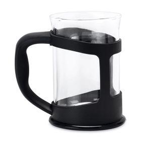Чашка Studio, в подстаканнике, цвет черный, 0.2 л, 2шт.