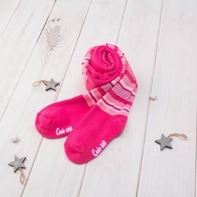 Колготки детские махровые SOF-TIKI 7С-38СП цвет розовый, рост 104-110 Ош