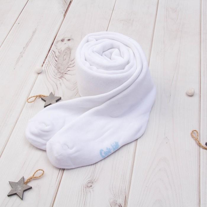 Колготки детские махровые, цвет белый, рост 128-134 - фото 76481562