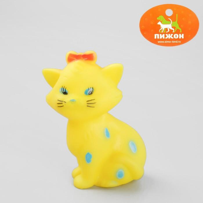 """Игрушка пищащая """"Кошечка"""" для собак, 10 см, микс цветов"""