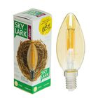 Лампа светодиодная Sky Lark, E14, C37, золотая, 4 Вт, 2700 K, теплый белый