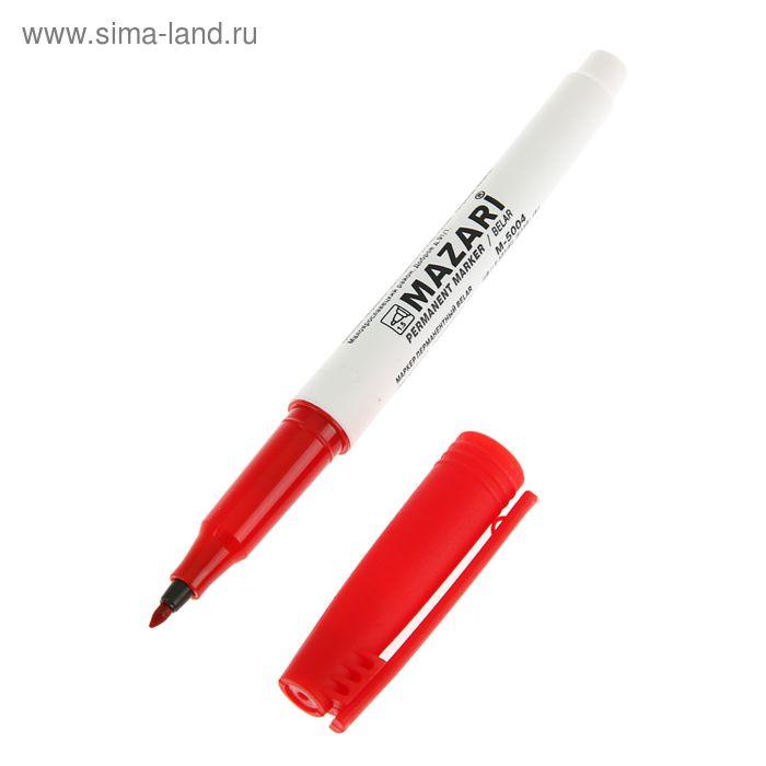 Маркер перманентный 1.5 мм MAZARI Belar М-5004 красный
