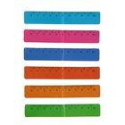 Набор закладок магнитных 12*2см, 6 цветов + линейка, микс