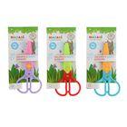 Ножницы детские фигурные 12.5 см, безопасные пластиковые лезвия, пластиковые ручки, микс