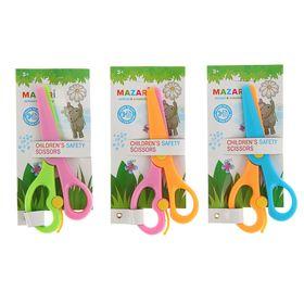 Ножницы детские 13,5 см, безопасные, пластиковые, с автоматическим механизмом, микс *