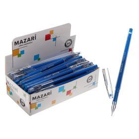 Ручка гелевая Lexy, узел 0.5 мм, синяя, игольчатый пишущий узел в форме кристалла