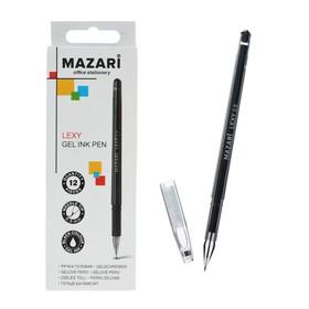 Ручка гелевая Lexy, игольчатый пишущий узел 0.5 мм, чёрная, в форме кристалла