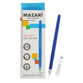 Ручка гелевая Lexy soft, узел 0.5мм, синяя, игольчатый пишущий узел в форме кристалла, покрытие soft