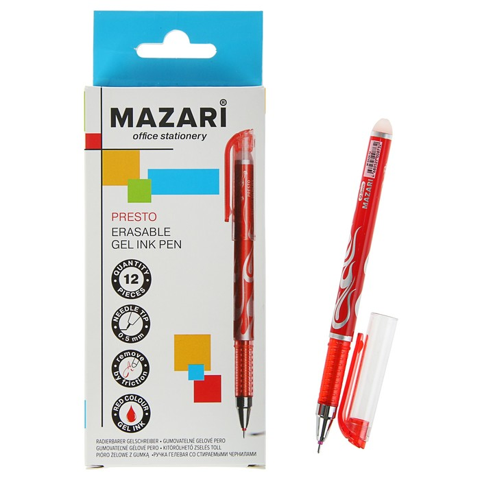 Ручка «Пиши-стирай» гелевая Presto 0.5 мм, красная