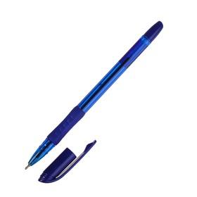 Ручка шариковая Songar Smart ink, игольчатый пишущий узел 0.7 мм, синие чернила, резиновый упор
