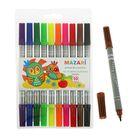 Фломастеры 10 цветов двусторонние Holiday, вентилируемый колпачок, пвх-упаковка с европодвесом