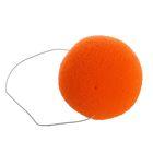 Нос на резинке, 6 см, цвет оранжевый