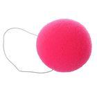 Нос на резинке, 6 см, цвет розовый