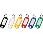 Брелоки для ключей, комплект 12 штук, длина 50мм, инфо-окно 30х15мм