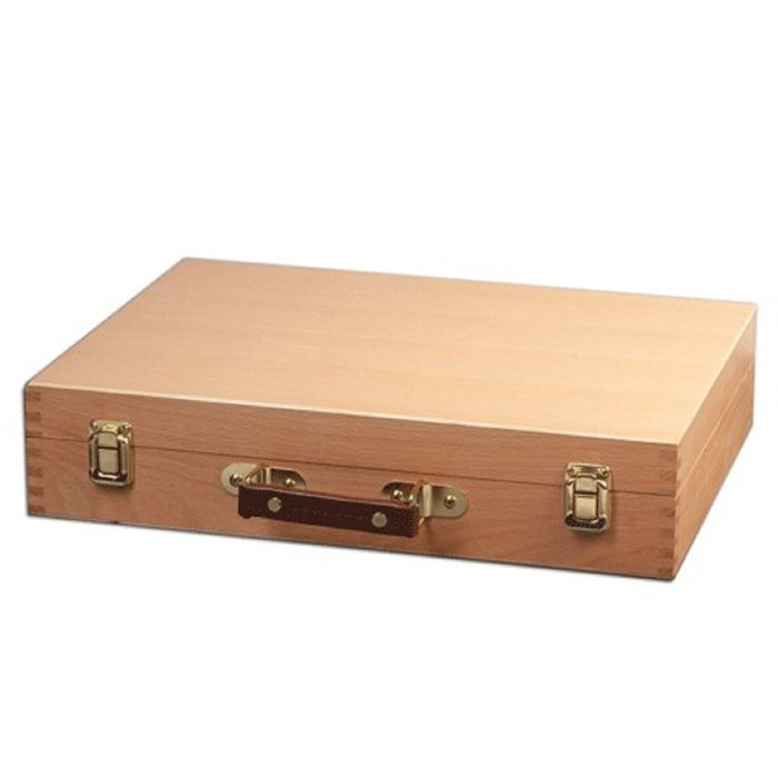 Этюдный ящик, 400 х 310 х 80 мм, Brauberg, сосна, цвет под бук