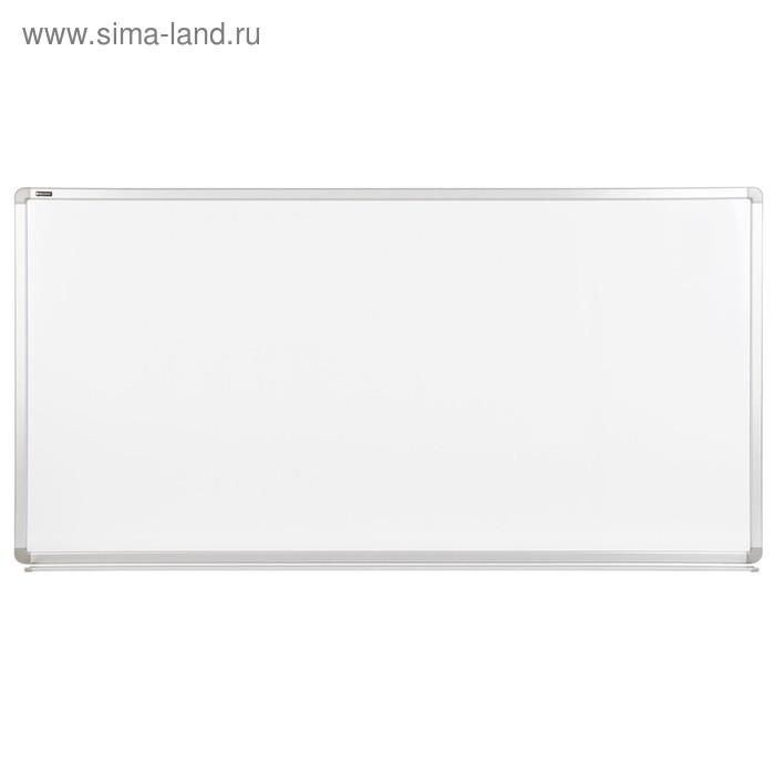Доска магнитно-маркерная 90х180см, улучшенная алюминиевая рамка, гарантия 10 лет