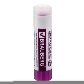 Клeй-карандаш ПВП 15 г BRAUBERG, цветной