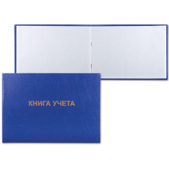 Книга учета альбомная, 96 листов, А4, 210х295мм, клетка, бумвинил, блок офсет