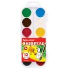 Акварель медовая BRAUBERG, 12 цветов, в пластиковой коробке, без кисти