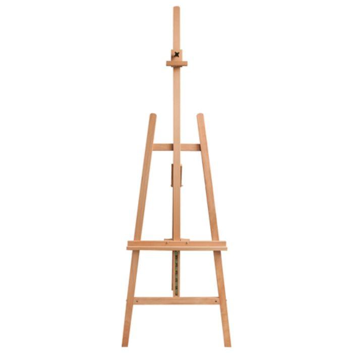 Мольберт тип «Лира», угол 60°, размер 63 х 174 (231) х 68 см, высота холста – 126 см, сосна, цвет под бук