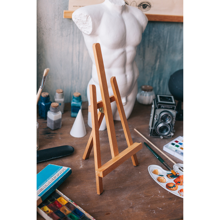 Мольберт настольный «Лира», 420 х 190 х 160 мм, Brauberg, высота холста 30 см, сосна, цвет под бук