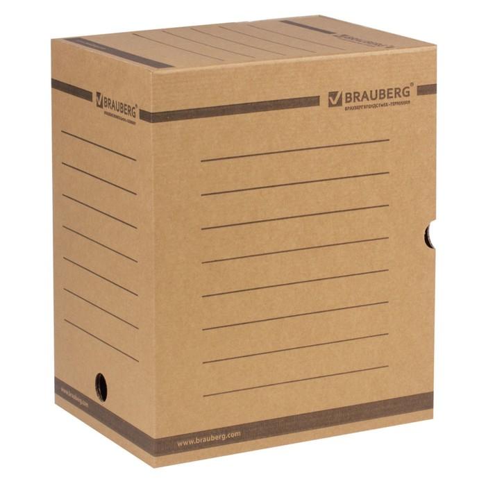 Накопитель документов, Лоток-коробка, 200мм, бурый, до 1800 листов