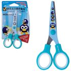 Ножницы 13 см, «Пингвины», с цветной печатью, голубые, с европодвесом