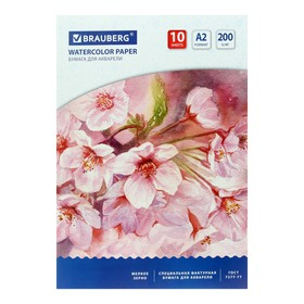 Folder for watercolors A2 400x590mm, 10 sheets, block 200 g / m2 paper in accordance with GOST 7277-77
