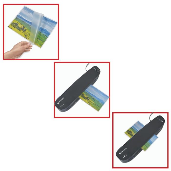 Пленки-заготовки для ламинирования 100 штук, для формата А4, 80 мкм, матовая - фото 450117950