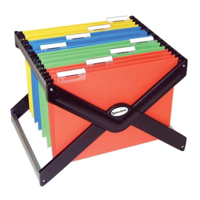 Подвесная архив-подставка до 40 папок А4/FC, 410x275x320мм, пластик/металл