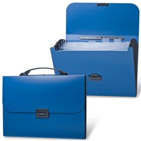 Портфель пластиковый А4 BRAUBERG Energy, 256 х 330 мм, 6 отделений, синий