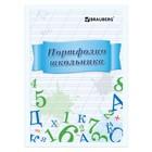 Портфолио школьника BRAUBERG, 16 листов: титульный лист, содержание, 14 разделов «Учись на 5»