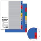 Разделитель пластиковый А4, 7 листов, по дням Пн-Вс, оглавление, цветной
