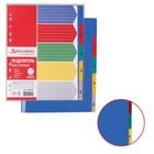 Разделитель пластиковый А4+, 5 листов, цифровой 1-5, оглавление, цветной